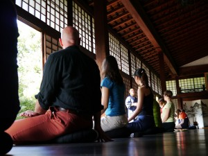 Meditation instruction at Shunko-in