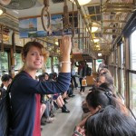On the trolley in Kyoto