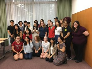 Bryn Mawr 360 students and Tsuda's students